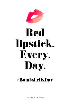 Not really into the bombshell thing, but red lipstick sounds a okaay ...