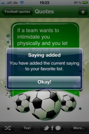 ... Jokes, Sayings and Quotes about Soccer pour capture d'écran Android