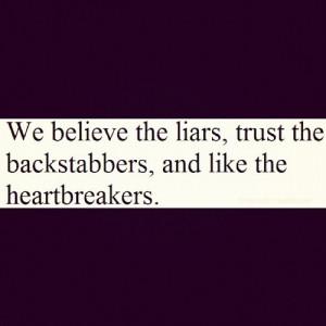 Liars Backstabbers Self...