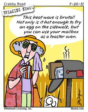 Maxine Cartoon on the Summer Heat