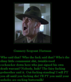 R Lee Ermey Quotes Gunny Hartman Quotes. ...
