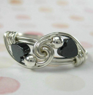 Handmade Rings, Rings Hematite, Wire Rings, Wire Wrapped Rings, Wire ...