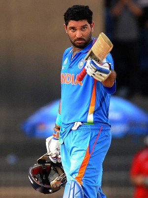 Yuvraj Singh notched up his 13th ODI century