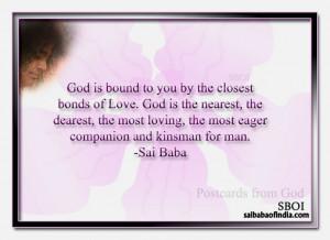 ... from God - Bhagawan Sri Sathya Sai Baba's Maxims - Quotes - Sayings
