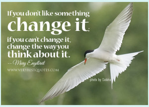 ... change it; if you can't change it, change the way you think about it