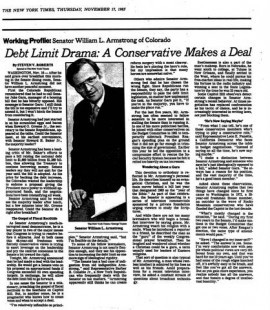 The debt ceiling has been a lingering issue as evidenced by a 1983 New ...