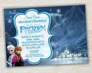 Frozen Birthday Invitation, Frozen Birthday Party, Frozen Invitation ...
