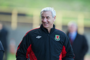 Ian Rush during Wales' Under-15's International Friendly match ...