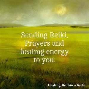 Sending Reiki, Prayers and healing energy to you. - repinned by ...