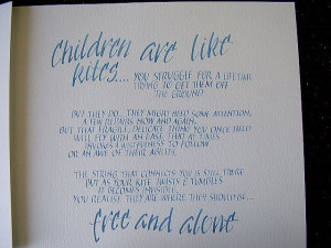 Children are Like Kites poem by Erma Bombeck...will be painting this ...