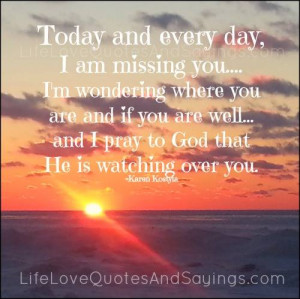 Missing You Quotes Today. QuotesGram