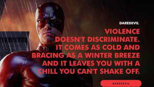 VIOLENCE DOESN'T DISCRIMINATE. IT COMES AS COLD BRACING AS A WINTER ...