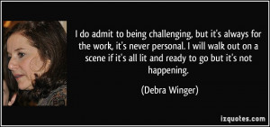 Debra Winger Quote About