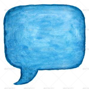 Speech Bubble Watercolor Square Shape