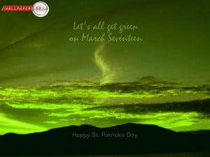 Funny quotes the picture of green sky with saint patricks day quote