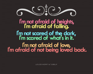 , dark, falling, fear, i am not afraid, love, poetry, quote, quotes ...