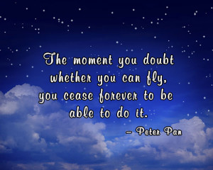 Peter Pan quote about flying