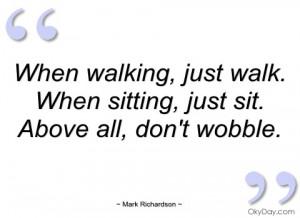 when walking