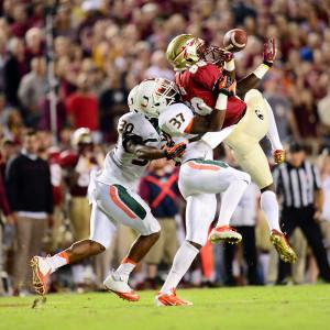 Phil Ellsworth/ESPN Images Seminoles wideout Christian Green caught 13 ...