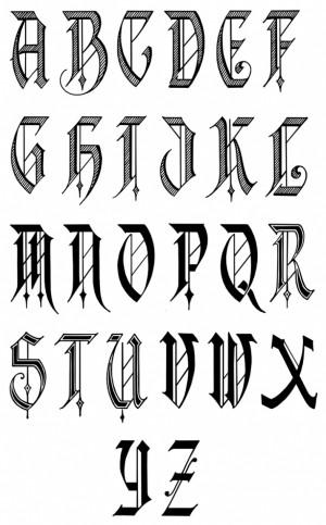 Old English Calligraphy Font Alphabet