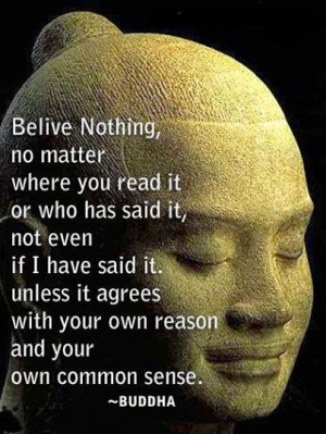 Gautam Buddha's Thought About Belief!