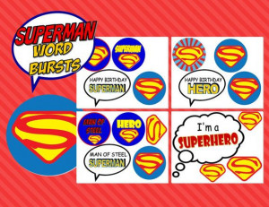 SUPERMAN POWER Quotes Bursts Super Hero by KROWNKREATIONS