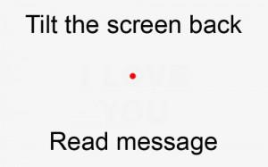 Tilt Screen Back to View Message...