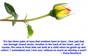 Erma Bombeck (1927 – 1996) ~ Quote of the Day for Mother's Day