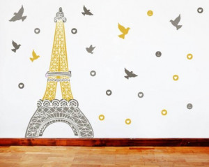 Eiffel Tower Wall Decal Sticker