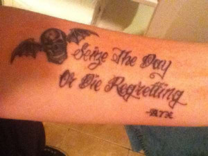 avenged sevenfold quotes tattoos