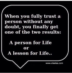 person/ lesson for life