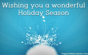 Happy Holiday Greetings Messages 2014