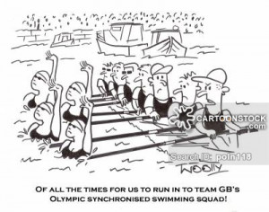synchronized swimming cartoons, synchronized swimming cartoon, funny ...
