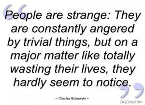 people are strange charles bukowski