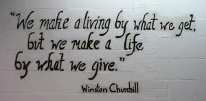 ... it captures American's generosity and pride to help when needed