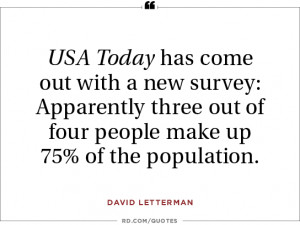 David Letterman on the latest polls...