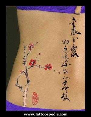 cherry blossom wrist tattoo