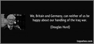 We, Britain and Germany, can neither of us be happy about our handling ...
