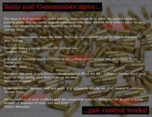 Communist and Nazi Gun Quote Poster