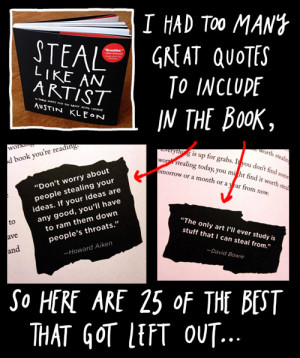 had too many quotes to include in the book, so here are 25 of the ...