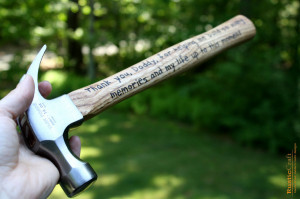 Personalized Hammer - Engraved Hammer - 5th Anniversary Gift - Husband ...