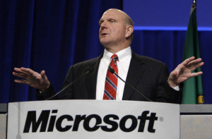 ... Steve Ballmer's comments on the tablet market, dominated right now by