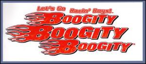 Boogity Lets Go Racin Boys Diecut Cling - Large