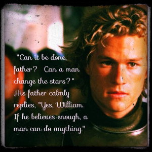 Knights tale; change your stars quote.