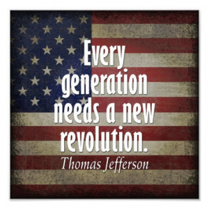 Thomas Jefferson Quote on Revolution Photograph