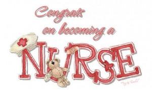 congrat on becoming a nurse