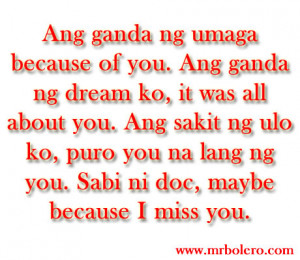 Sweet Tagalog Love Quotes
