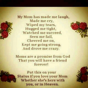 For my mom in Heaven, I miss you.