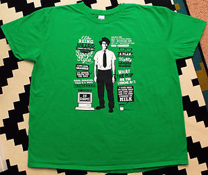 ... Shirt-2XL-Green-Quotes-Maurice-Moss-Memory-Is-Ram-British-TV-Show