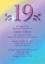 19th Birthday Party Invitations